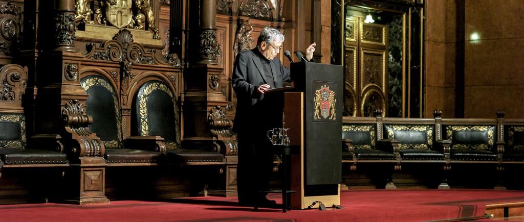 Amos Oz bei seiner Rede anlässlich der Preisverleihung