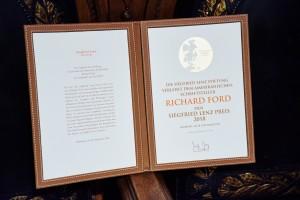 Verleihung des Siegfried Lenz Preises 2018 an Richard Ford